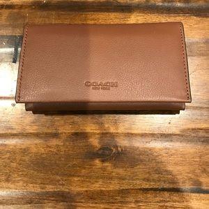 Coach Dark Saddle leather Phone Case